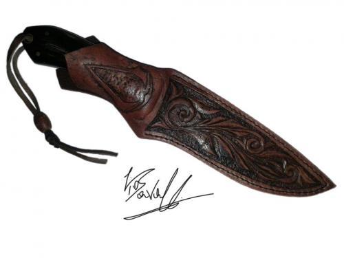 Creazioni Artigianali Savalli - Custodia per coltello caccia